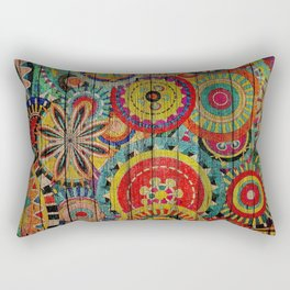Kashmir on Wood 01 Rectangular Pillow