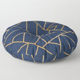 Art Deco Blue Floor Pillow