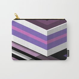 Abstract Lined Purple Carry-All Pouch