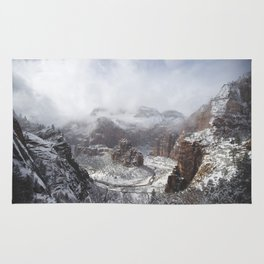 Zion National Park in Winter Rug