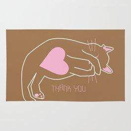 Pink cat Rug