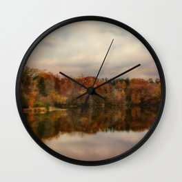 Autumn At Lake LaJoie 1 Wall Clock