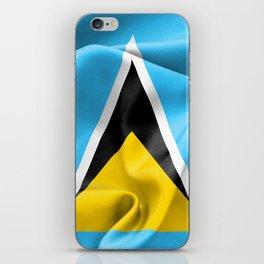 Saint Lucia Flag iPhone Skin