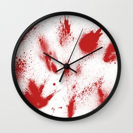 Bloody Blood Spatter Halloween Wall Clock