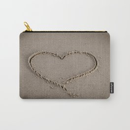 Heart Love Sand Carry-All Pouch