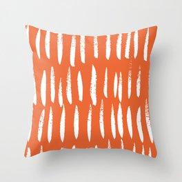 Brush Stroke Staccato Throw Pillow