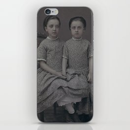 Sisters Daguerreotype by Jeremiah Gurney, 1857 iPhone Skin