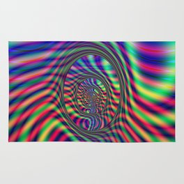 Psychedelic Oval Labyrinth Rug