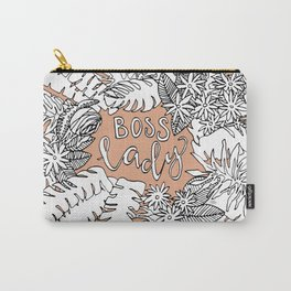Boss Lady  - Peach Botanical Carry-All Pouch