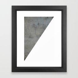 Concrete Vs White Framed Art Print
