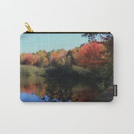Autumn Trail Lake Relections Carry-All Pouch