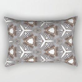 Zebra inspired digital print Rectangular Pillow