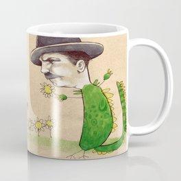 Dragon Guy with Flowers Coffee Mug