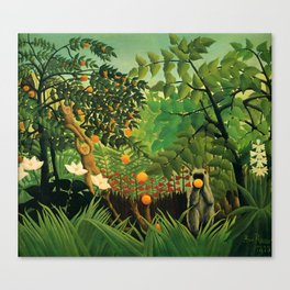 """Henri Rousseau """"Exotic landscape"""", 1910 Canvas Print"""