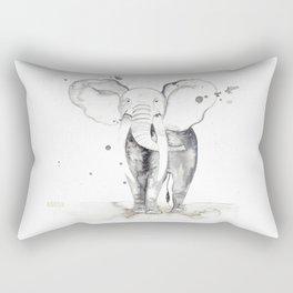 aquarela Elefante Rectangular Pillow