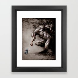 Stitch VS Venom Framed Art Print