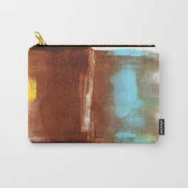 Brown & Blue Monotype Carry-All Pouch