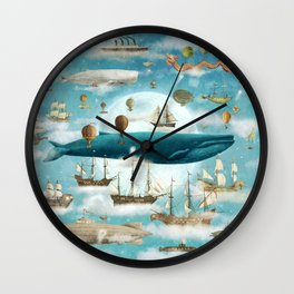 Ocean Meets Sky - option Wall Clock
