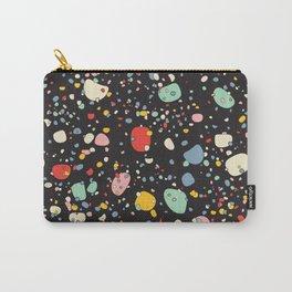 modern scandinavian multi-colour pebbles black Carry-All Pouch