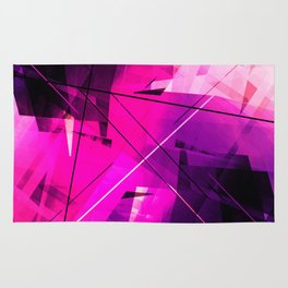 Rebellious Reflections - Geometric Abstract Art Rug