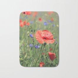 poppy flower no16 Bath Mat