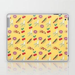 Modern yellow red fruit pizza sweet donuts food pattern Laptop & iPad Skin
