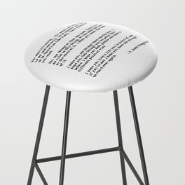 For what it's worth - F Scott Fitzgerald quote Bar Stool