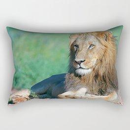 Portrait young lion Rectangular Pillow