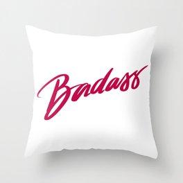 Badass Red Throw Pillow