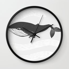 Whale Ink Wall Clock