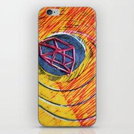 Twirl Woodcut iPhone Skin