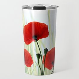 Poppies red 008 Travel Mug