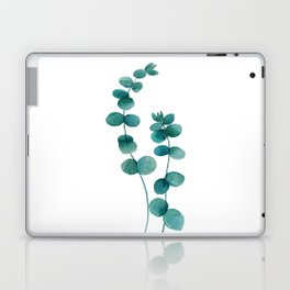 green eucalyptus watercolor Laptop & iPad Skin