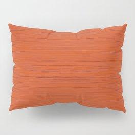 Meteor Stripes - Rust Orange Pillow Sham