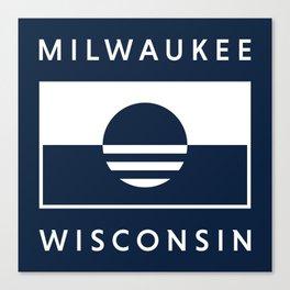 Milwaukee Wisconsin - Navy - People's Flag of Milwaukee Canvas Print