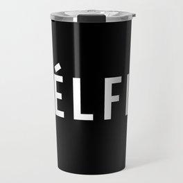 Selfie - version 2 - white Travel Mug