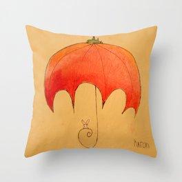 Tomato Brella with Bunny Throw Pillow