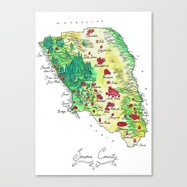Sonoma County Canvas Print