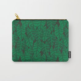 Elephant Ear house plant tropical garden green minimal pattern Carry-All Pouch