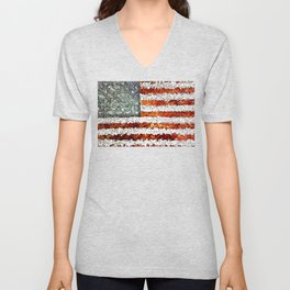 American Flag Abstract Unisex V-Neck