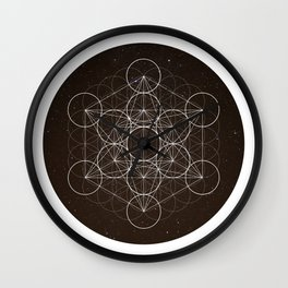 Metatrons Cube Is Out Of Space Wall Clock