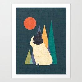 Waiting for You French Bulldog Art Print