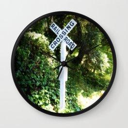 Korbel Rail Road Crossing Wall Clock