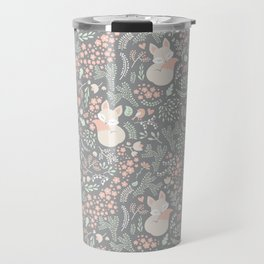 Sleeping Fox - grey Travel Mug