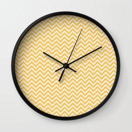 Yellow Chevon Strip Wall Clock