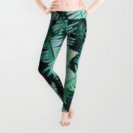 Botanic jungle leaf pattern Leggings