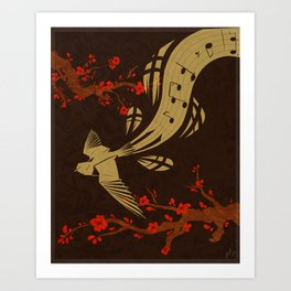 Flowing melody Art Print