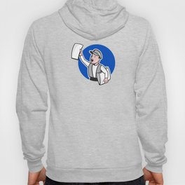 Newsboy Selling Newspaper Circle Cartoon Hoody
