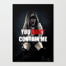 You can't contain me Canvas Print