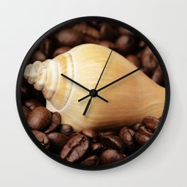 Coffee bean snail Wall Clock